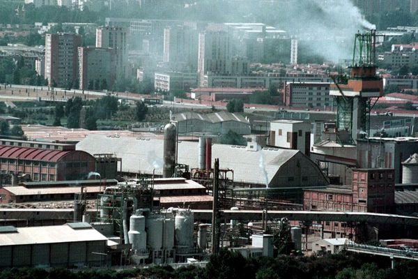 L'usine AZF, en août 2001, un mois avant l'explosion.