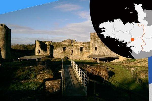 Les ruines de la sentinelle d'Anjou