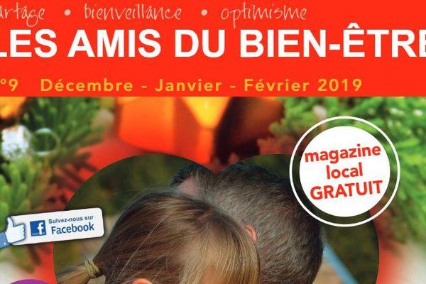 """Un extrait de la couverture du dernier numéro du magazine normand et gratuit """"Les Amis du bien-être""""."""