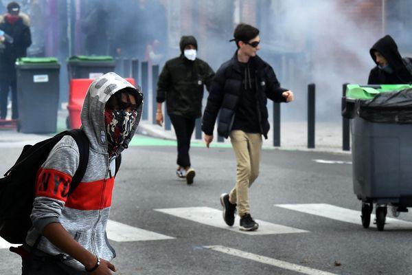 Manifestation de lycéens à Toulouse mardi 5 décembre