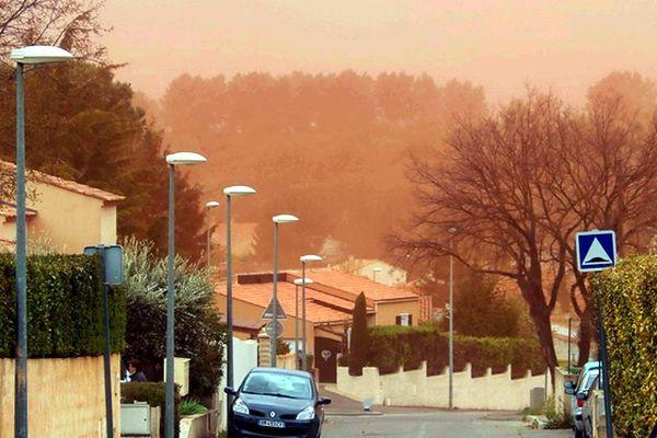 La tempête du 8 avril avait entraîné un nuage de poussière de bauxaline dans le secteur de Bouc Bel Air