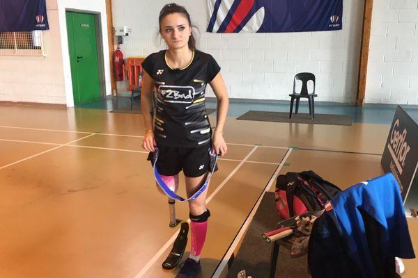 Coraline Bergeron est championne de France de parabadminton en titre.