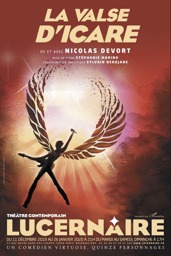 Affiche de la Valse d'Icarede et avec Nicolas Devort