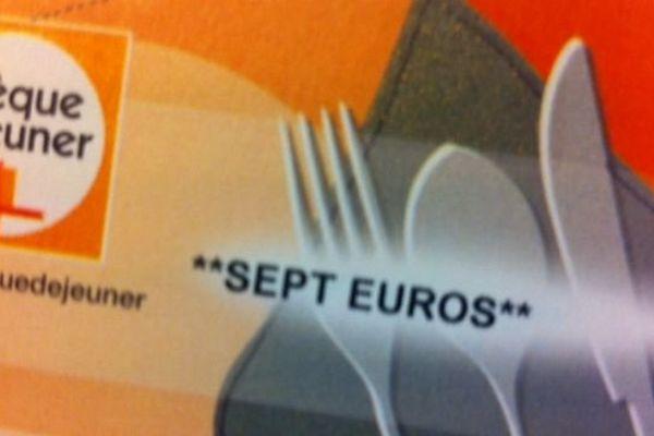 Titre-repas sur support papier