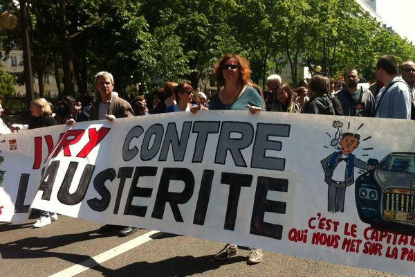 La manifestation des fonctionnaires à Paris