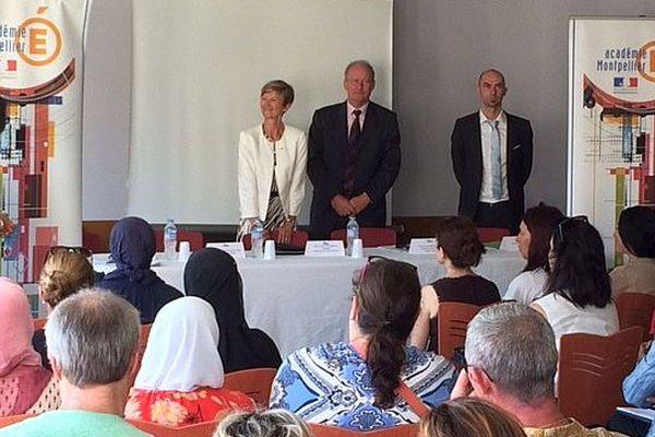 Montpellier - la rentrée de la rectrice Armande Le Pellec Muller, Recteur de l'académie de Montpellier - 1er septembre 2016.