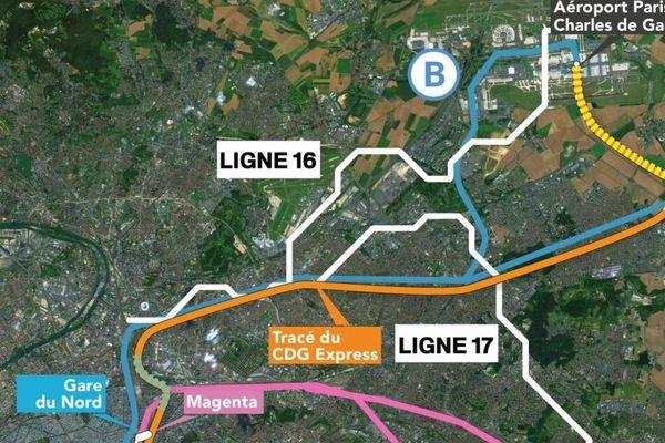 Le projet du CDG Express, entre Paris et Roissy.
