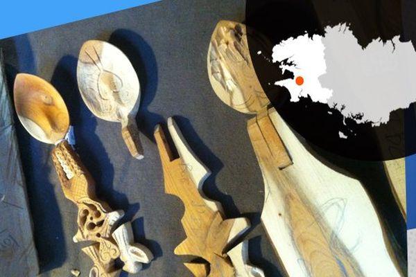 Des cuillères de mariage, une tradition propre à la Cornouaille et qui date des XVII, XVIII et XIXème siècles.