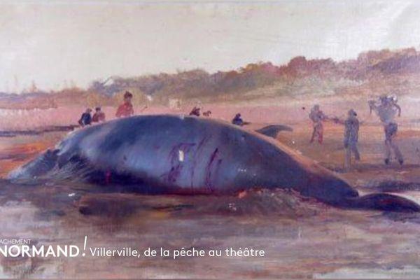 Une baleine échouée à Villerville devient un lieu de théâtre
