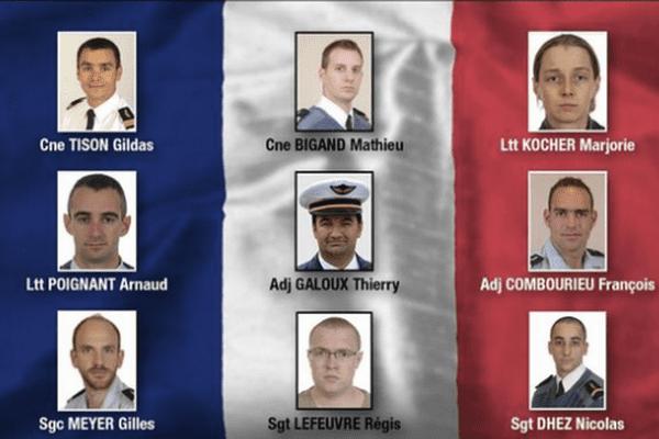 Les neuf militaires français décédés à Albacete après le crash d'un F16