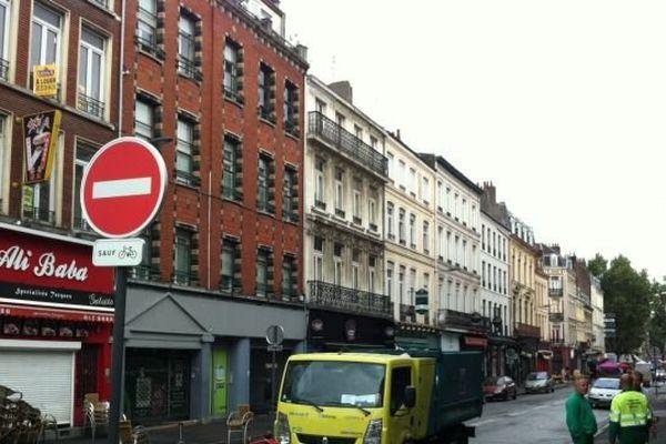 La rue Masséna à Lille samedi matin