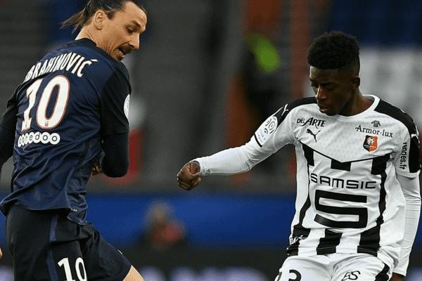 Zlatan Ibrahimovic (PSG) contre Ousmane Dembele (Rennes)