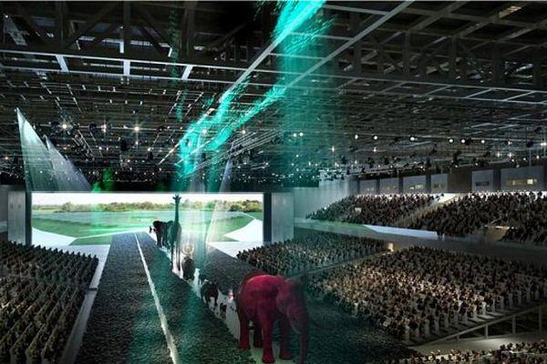 Le Hall des grands événements du futur parc des expositions