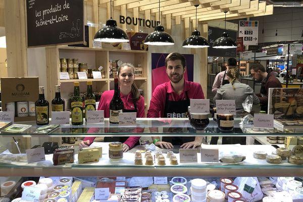 Dans le hall 3, les produits de Saône-et-Loire sont à l'honneur jeudi 1er mars