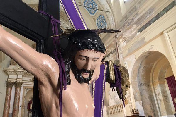 Jésus dans l'église Saint Erasme à Ajaccio