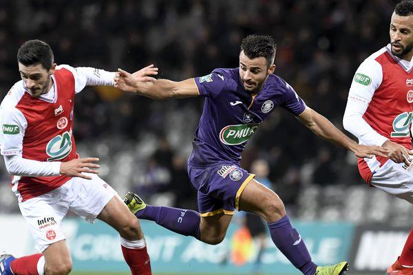 Toulouse se qualifie pour les 8 ième de finale de la coupe de France de football en battant Reims, mardi 22 janvier 2019