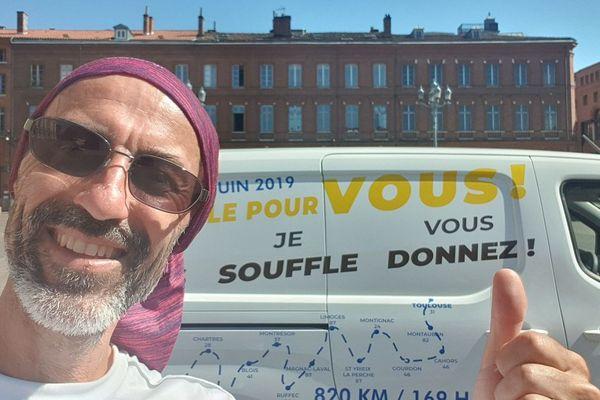 François Blériot, dimanche 2 juin 2019, à quelques kilomètres de l'arrivée.