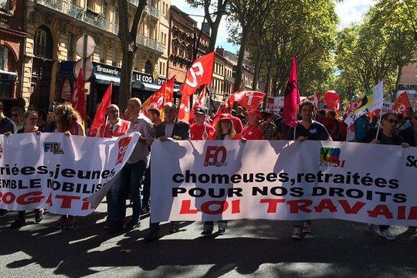 Entre 2 500 et 5 000 personnes ont manifesté une nouvelle fois à Toulouse contre la loi Travail.