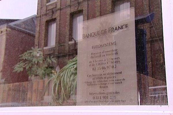 Les salariés de la Banque de France à Dieppe sont en grève.