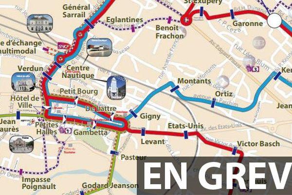 Le réseau de transport en commun de Saint Dizier en grève