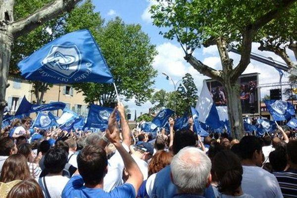 Ils étaient nombreux place Soult pour accueillir les joueurs du Castres Olympique