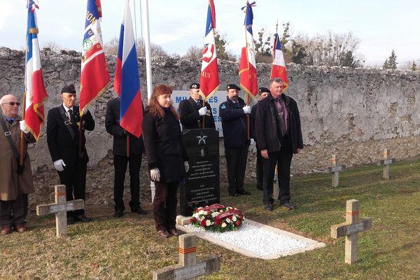 Meaux, le 20 décembre 2016 restauration de la tombe du lieutenant soviétique Nikolaew