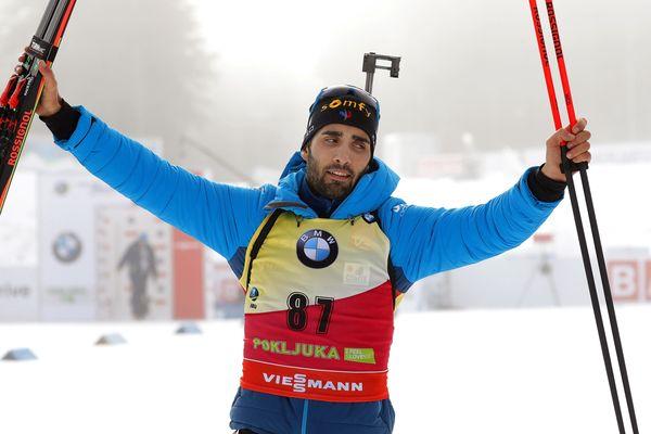 Martin Fourcade a remporté ce jeudi l'épreuve de biathlon individuelle en Slovénie - 6 décembre 2018