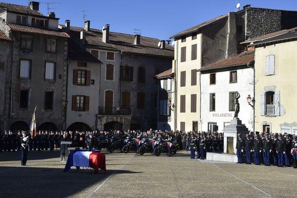 Cérémonie hommage au major Christian Rusig à Tarascon-sur-Ariège le 30 Novembre 2016