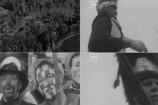 Des images du carnaval de Dunkerque il y a 50 ans.