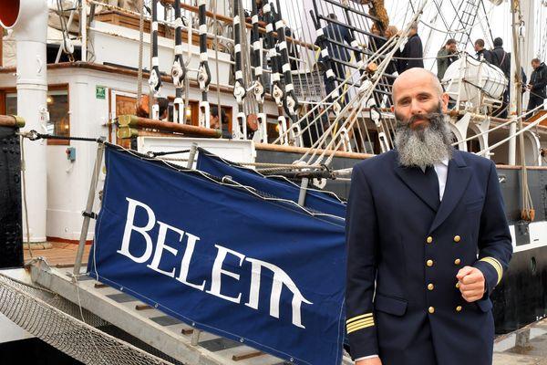 Le commandant Gweltaz Thirion à bord du Belem en 2018.