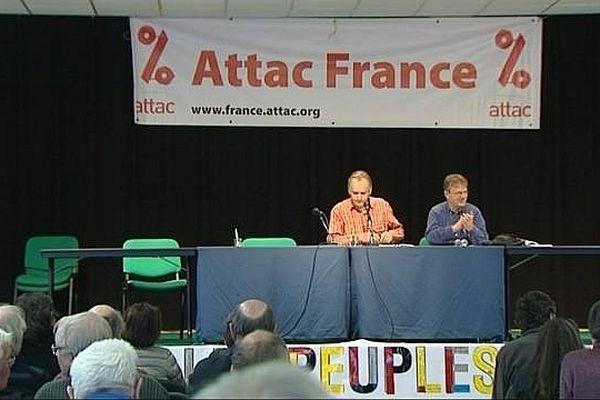 Attac France (Association pour la taxation des transactions financières et pour l'action citoyenne) tient ses Assises 2012 samedi 8 et dimanche 9 décembre 2012 en Saône-et-Loire.