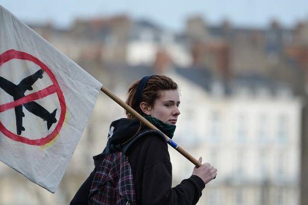 Les opposants au projet d'aéroport de Notre-Dame-des-Landes à Nantes.