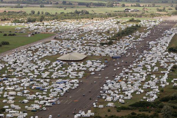 Le terrain devait accueillir la convention mondiale de Vie et Lumière, rassemblement évangélique tzigane.