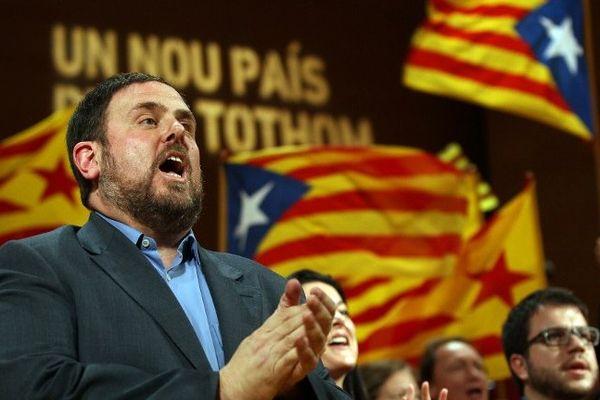 Oriol Junqueras leader indépendantiste d'Esquerra Republicana de Catalunya.
