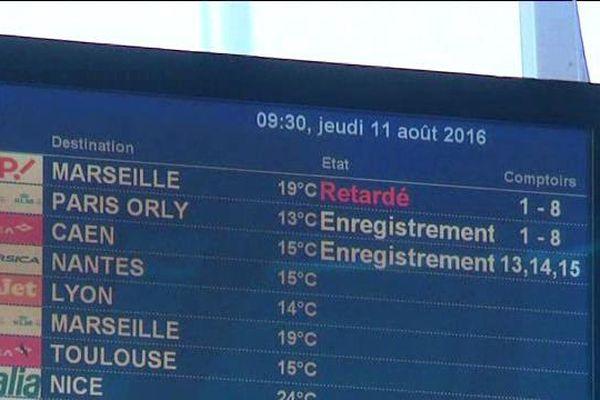 Trafic aérien perturbé entre Marseille et la Corse