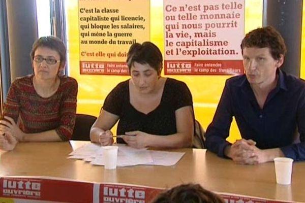 Lutte Ouvrière a organisé une conférence de presse à Mulhouse