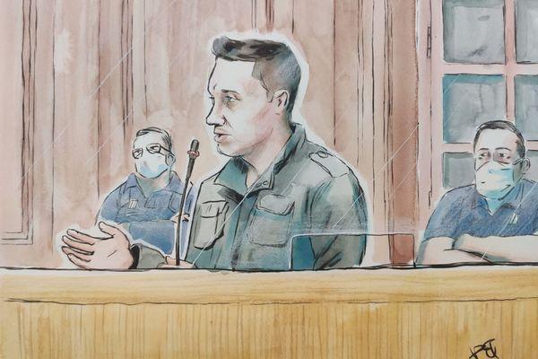 Jonathann Daval, durant son interrogatoire ce jeudi 19 novembre 2020.