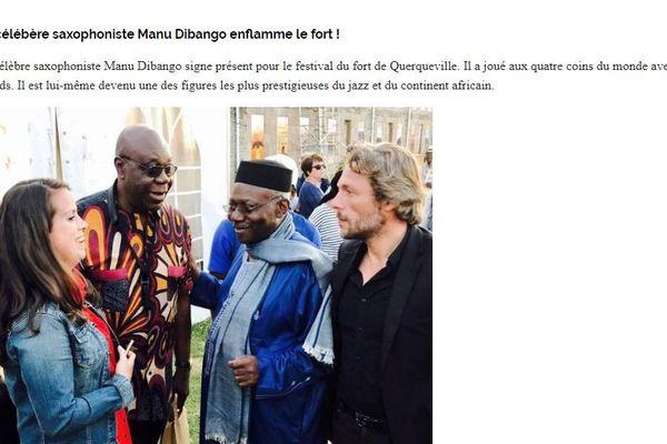 Manu di Bongo lors du festival des Continents à Querqueville , un concert sous le haut patronage de l4unesco
