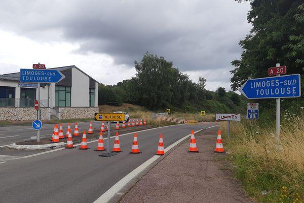 Bretelles d'accès à l'A20 fermée le samedi