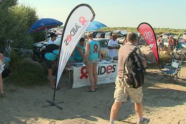 La plage de l'Espiguette théâtre d'une véritable campagne de dépistage et de prévention des risques de la maladie. Une initiative menée par l'association Aides 30