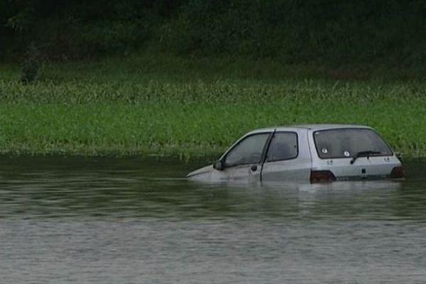 La voiture de la victime retrouvée ce matin par les secours