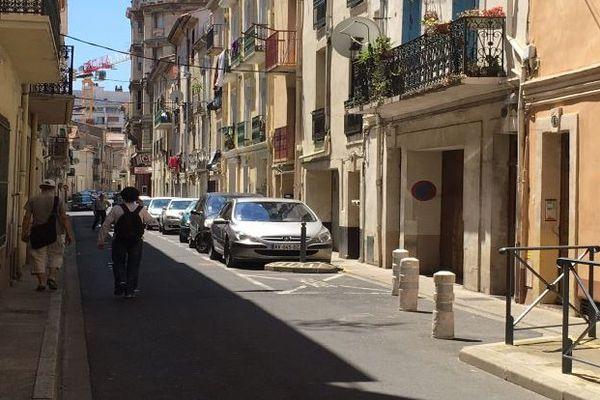 Sète (Hérault) - la rue Sébastopol où a eu lieu l'agression de l'ado de 12 ans - juin 2016.
