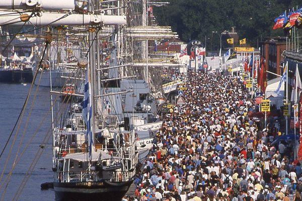 Rouen- La foule sur les quais de l'Armada (archives)