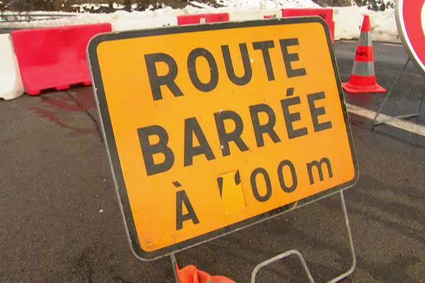 La route nationale 116 a été coupée dans les deux sens pour une durée indéterminée après le passage de la tempête Gloria - 25 janvier 2020