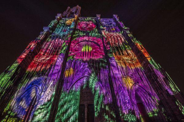 Le spectacle a été projeté vendredi soir en avant-première sur Notre-Dame