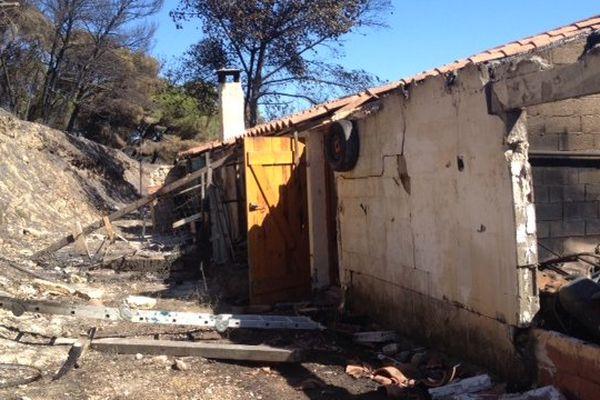 Peyriac-de-Mer (Aude) - le feu a tout ravagé sur plus de 500 hectares - 30 juillet 2014.