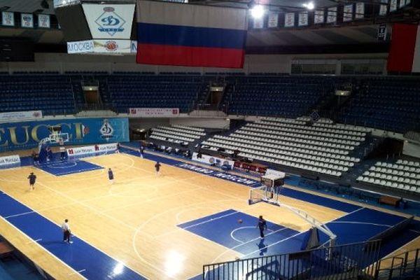 Moscou (Russie) - salle du Dynamo où les joueuses de BLMA joueront en Eurocoupe - 16 janvier 2013.