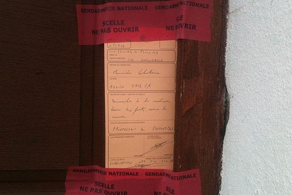 Le domicile de la victime sous scellé à Abazzia (Haute-Corse)