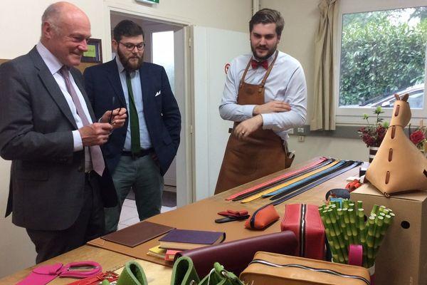 Alain Rousset a notamment visité l'entreprise Daguet.