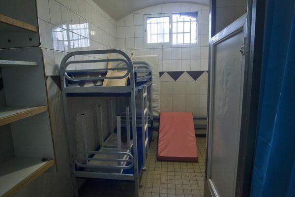 Une cellule de la prison de Béthune